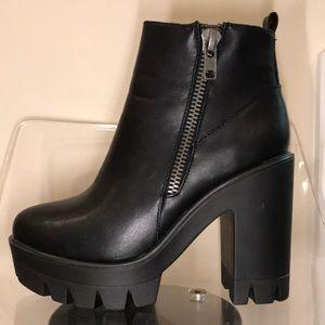 Shoes - Black Moto booties